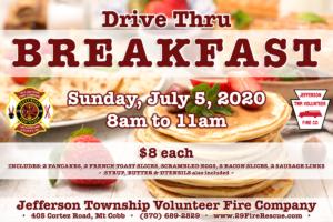 Breakfast Takeout / Drive Thru @ Jefferson Township Fire Company   Mount Cobb   Pennsylvania   United States