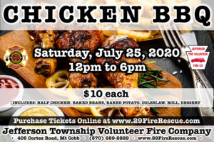 Chicken & Rib BBQ @ Jefferson Township Fire Company | Mount Cobb | Pennsylvania | United States