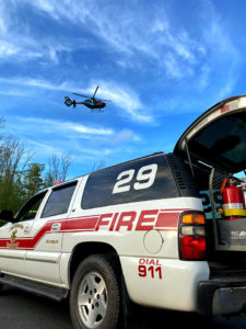 Rescue 29 Assists with Helicopter Landing Zone