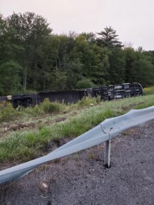 Afternoon Interstate Tractor Trailer Rollover