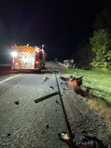 Late Night Interstate Rollover Crash