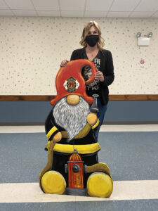 Gnome Firefighter Brings Smiles to Firehouse